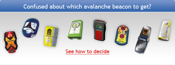 Choose from avalanche beacons
