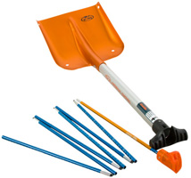 Backcountry Access Arsenal snow shovel with 240 avalanche probe